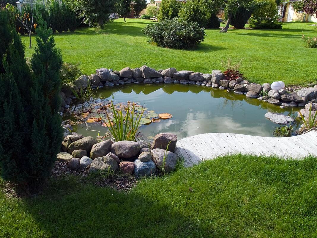 water features of lawn